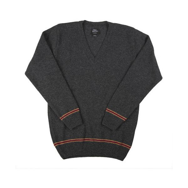 Authentic Gryffindor Adult Sweater (115 CAD) ❤ liked on Polyvore featuring tops, sweaters, harry potter, gryffindor, hogwarts, pullover, crew neck pullover sweater, crewneck pullover sweater, v neck pullover and v neck pullover sweater