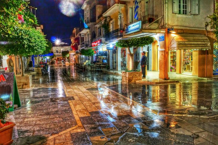 Zakynthos Town At Night
