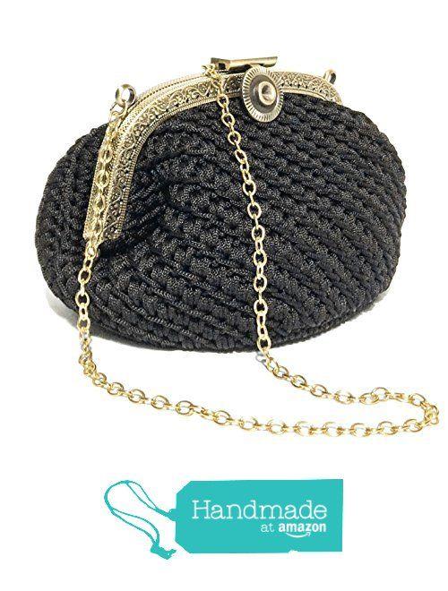UMA - pochette da donna vintage elegante - fatto a mano con uncinetto e chiusura clic clac color bronzo da Italian Craft Handmade https://www.amazon.it/dp/B01N2SXHS4/ref=hnd_sw_r_pi_dp_Yi1Eyb1DK45FN #handmadeatamazon