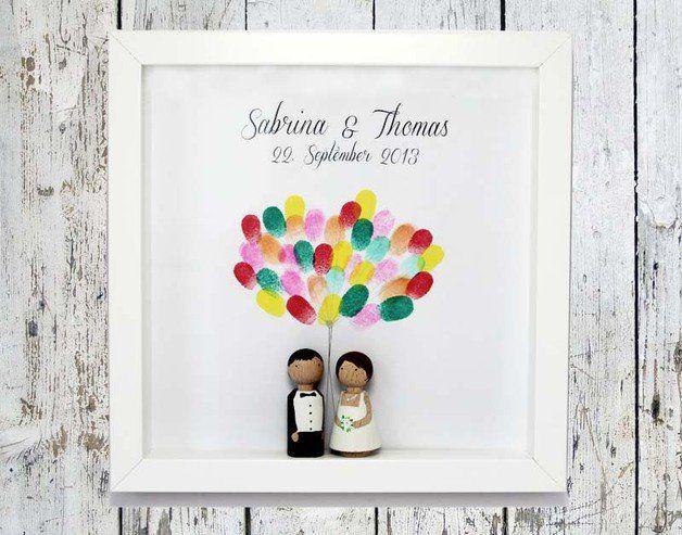 Hochzeitsgästebuch - Fingerprint Hochzeits-Gästebuch ♥ Poster PRINTABLE - ein…