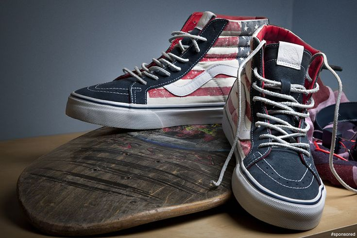 vans high top american flag