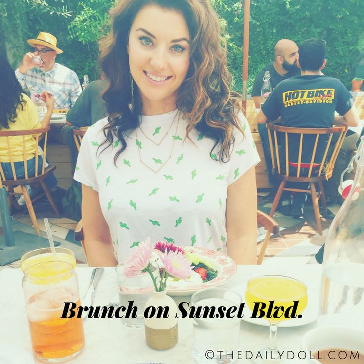 Writer Lacey Johnson Enjoying Brunch at Sawyer on Sunset Boulevard, Los Angeles | Click to Read 'It's Lonely Out Here in This Online Paradise' at TheDailyDoll.com, Social Media Life