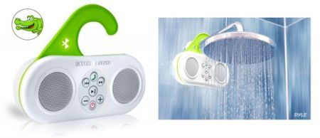 Gator Sound Bluetooth speaker from Pyle Audio - It would be equally at home whether you love to stand in the shower and belt out your favorite tunes, or prefer the slow hum while you soak in a bathtub. Either way, this is one waterproof speaker which will be comfortable with your singing style without requiring you to turn your hair white worrying about moisture or submersion. | Coolest Gadgets