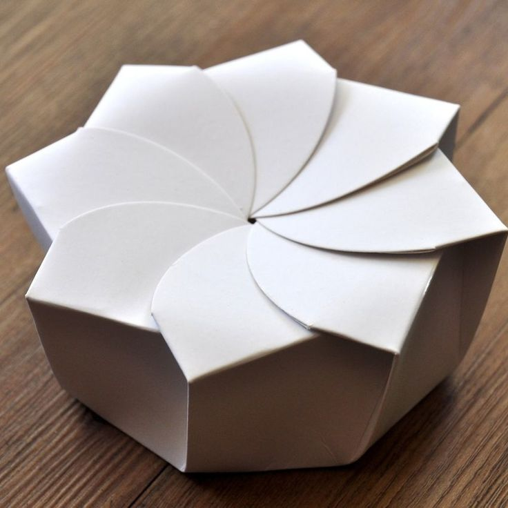 Origami Box | linen and milk