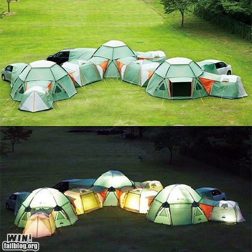 THIS is how you camp!Ideas, Buckets Lists, Tents Cities, Stuff, Awesome, Camps, Fun, Things, Families