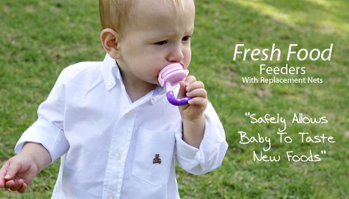 The Cherub Baby Fresh Food Feeder supports the beginning of independent solid feeding as well as assists with sore inflamed gums when teething, available in 3 bright colours!