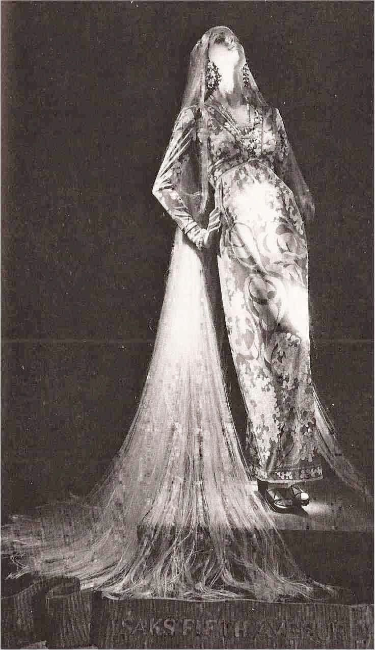 """SAKS FIFTH AVENUE, New York, """"Long hair never goes out of style"""", pinned by Ton van der Veer"""