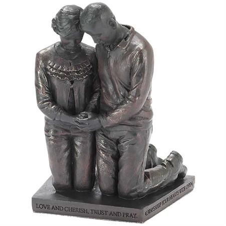 Called To Pray Bronze Table Statue: Husband & Wife A wonderful reminder of the power of prayer in one's life Beautiful, inscribed, inspirational bronze colored resin figurine $22.95