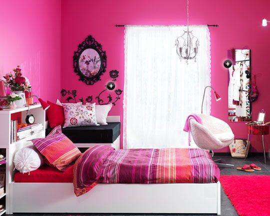 pink teen room
