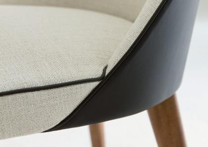DINING ROOM - Judy chair in fabric and leather