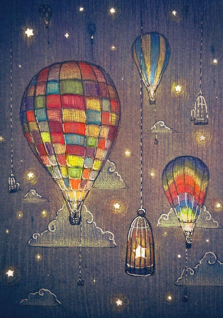 Оригами, воздушный шар открытки