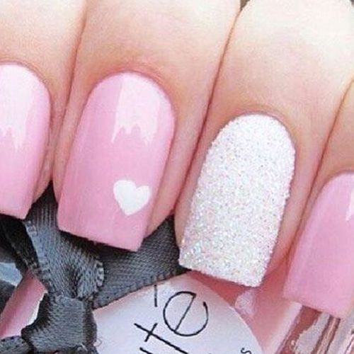 31 best nails images on pinterest nail design cute nails and 14 super pretty valentines day nail designs hashtag nail art prinsesfo Choice Image