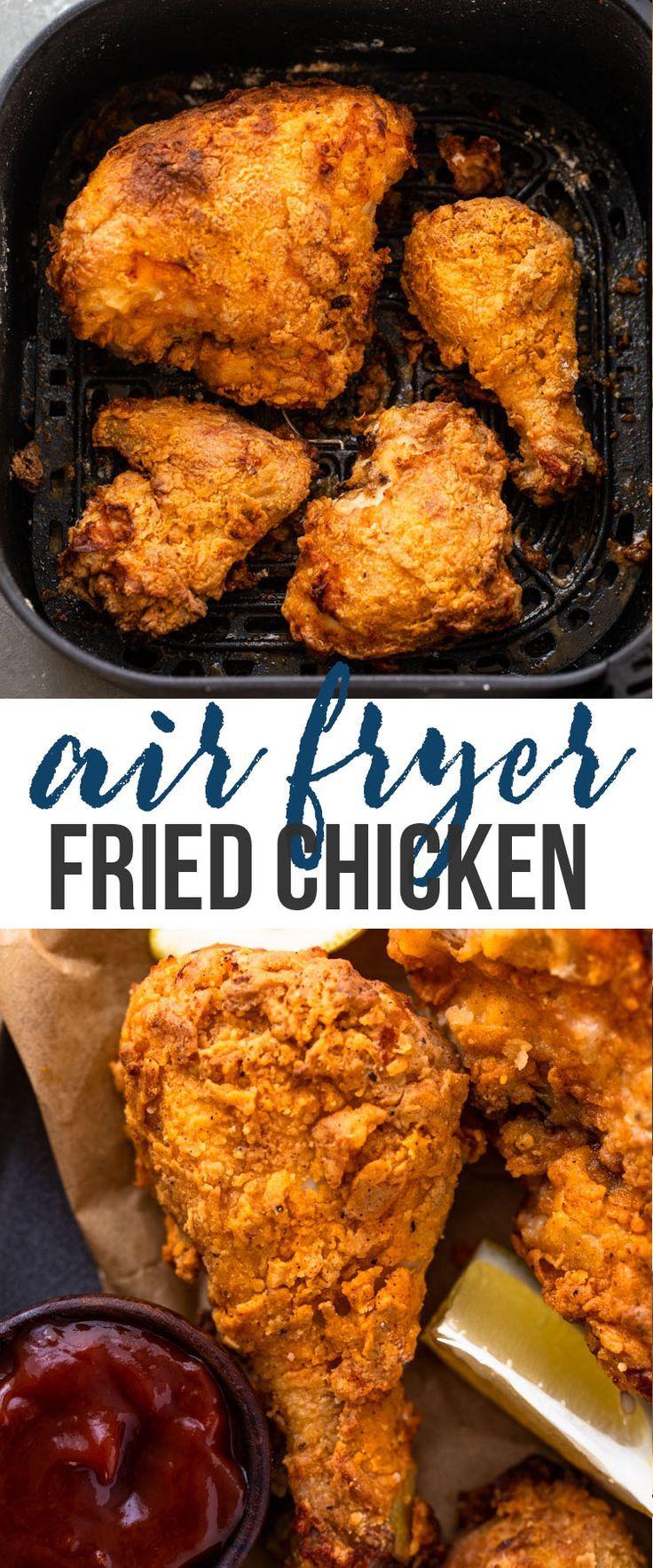Air Fryer Fried Chicken In 2020 Air Fryer Dinner Recipes Air Fryer Fried Chicken Air Fryer Recipes Chicken