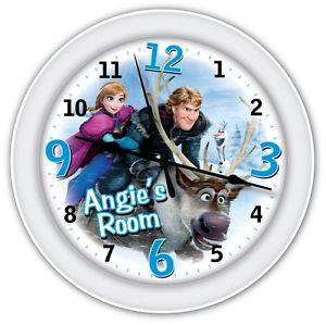 Disney Frozen Reindeer Personalized Wall Clock - Kids Bedroom Decor - GREAT GIFT