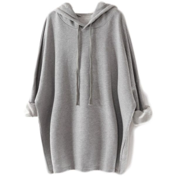Hooded Boyfriend Sweater Dress found on Polyvore featuring polyvore, women's fashion, clothing, dresses, tops, sweaters, shirts, boyfriend dress, hooded sweater dress and hooded dress