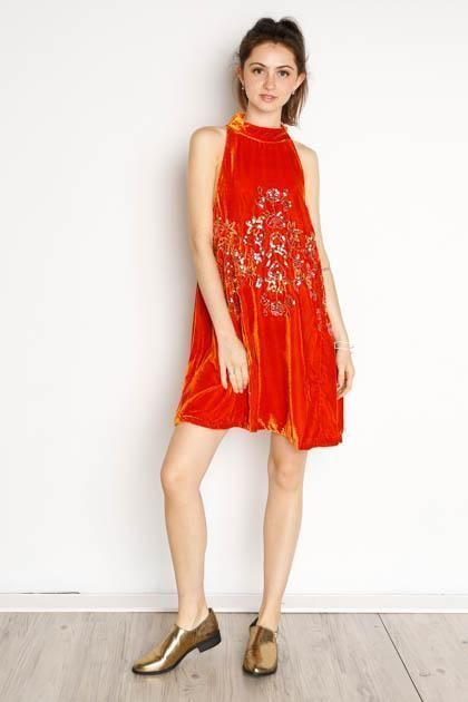 662fdab0408 Free People Jill s Sequin Swing Mini Dress XS BRAND NEW Orange  FreePeople   MiniSwing  AnyOccasion