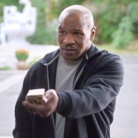 Mike Tyson Gives Back Evander Holyfield'™s Ear In Foot Locker Ad [READ MORE: http://uinterview.com/news/mike-tyson-gives-back-evander-holyfields-ear-in-foot-locker-ad-9621] #funny #sports #evanderholyfield #miketyson #brettfavre #dennisrodman #kyrieirving #footlocker