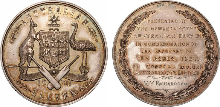1930 Ashes Medallion