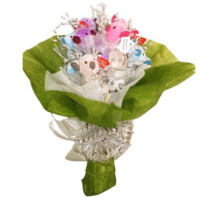 novelty good gifts at Gifts & Wishes Online shop - soft toy bouquets . www.e-giftsandwishes.com