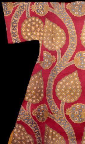 Floral Motifs In Fabrics And Garments, Caftan Of Sultan Mahmud I