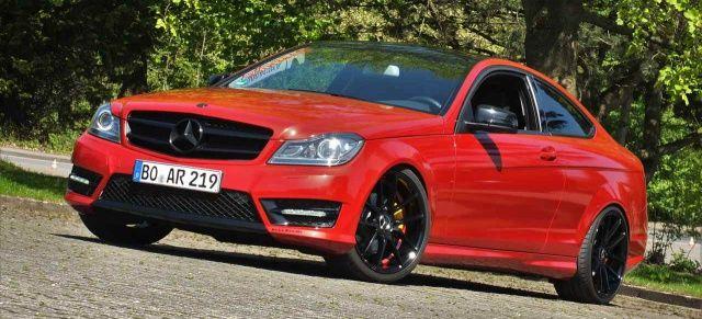 Mercedes-Benz C-Klasse Coupé C204: Mehr Sport an Bord: Rot und rassig: Der Mercedes C250 CDI gibt sich dynamisch - Auto der Woche - Mercedes-Fans - Das Magazin für Mercedes-Benz-Enthusiasten