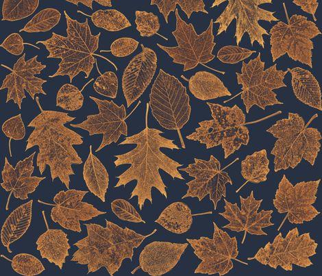 leaf etchings - sunrise colors fabric by weavingmajor on Spoonflower - custom fabric