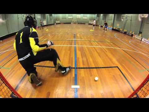 Floorball training elite Aarhus - YouTube