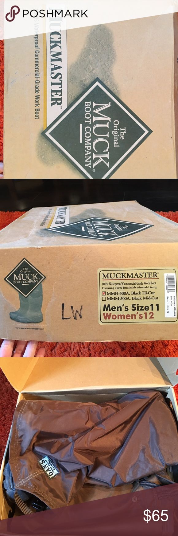 Muck boots size 11 Muck boots hi-cut like new.  Men's 11- women's 12. Muck boot company Shoes Boots