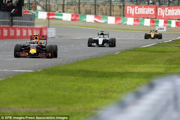 Hamilton battled back to third but was unable to pass the Red Bull of Max Verstappen