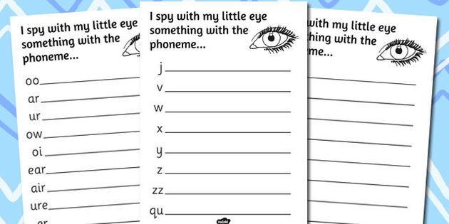 Phase 3 Phoneme Hunt Activity Sheets