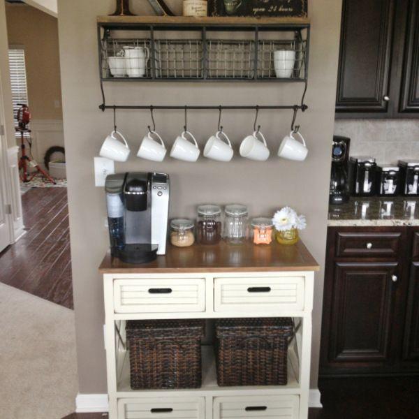 A coffee bar! (I could totally make a great coffee and tea bar...that would be awesome...)