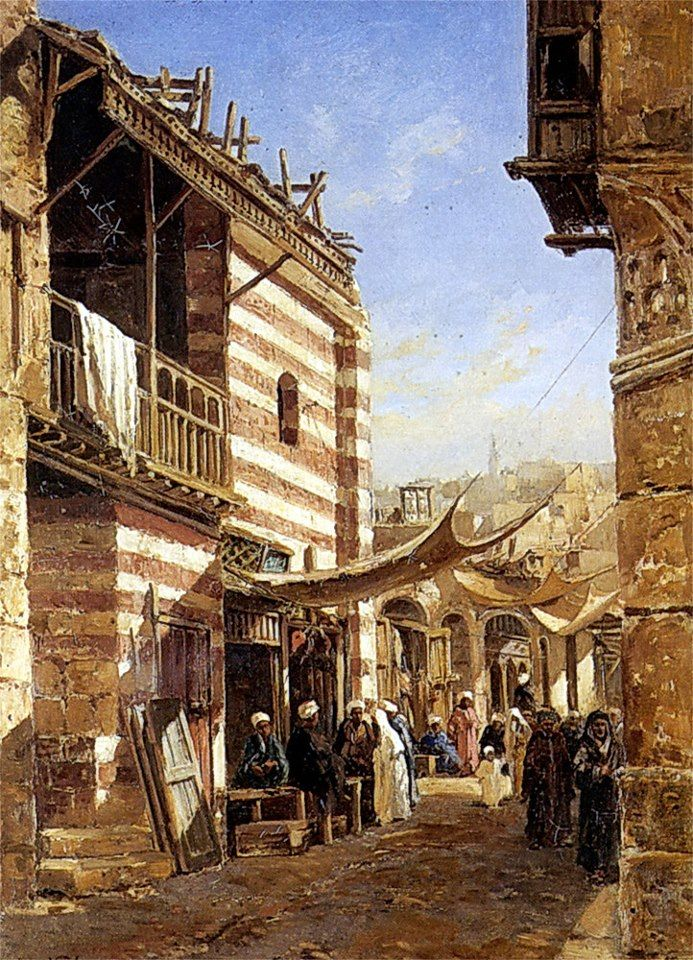The School near the Babies Sharouri Cairo 1880 By John Varley Jnr. (British, 1850-1933) Oil on canvas , 50.80 cm X 38.10 cm