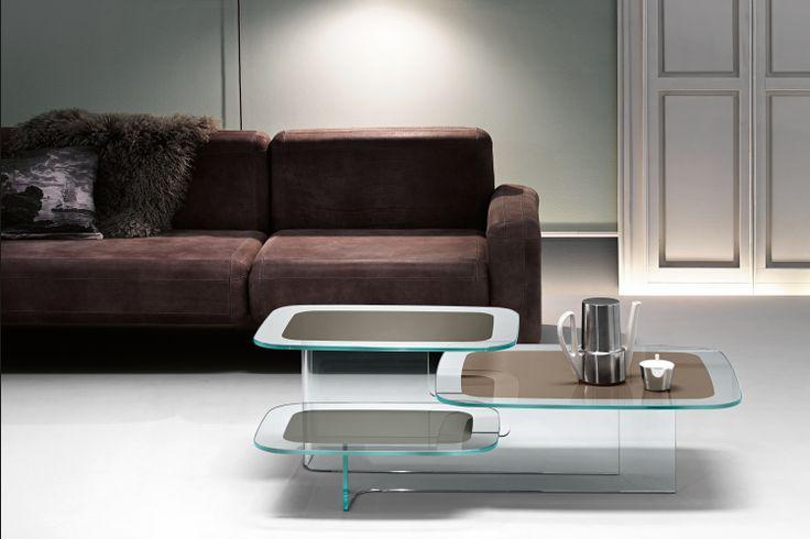 GlazenDesignTafel.nl   Glazen salontafel Paesaggi   FIAM   Italian design   Glass table by Angeletti e Ruza   vidre glastoepassingen, Leiden