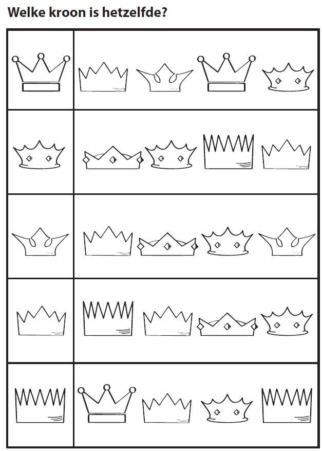 Welke kroon is hetzelfde? [Juf Marije]