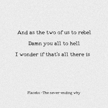 Placebo - The Never-Ending Why with lyrics - YouTube