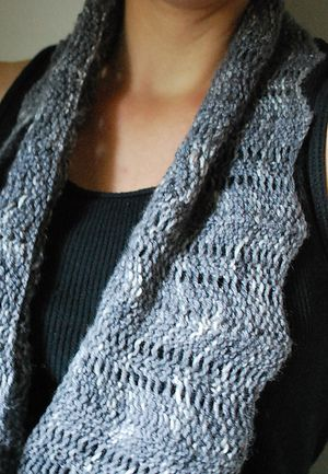 A R C U S - Cowl design by Lisa Mutch -   Arcus is a wide, horizontal, garter stitch variation cowl, with a slightly wind torn bottom edge. Just like an arcus cloud formation. http://www.ravelry.com/patterns/library/arcus
