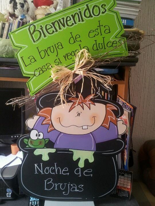 Una bruja para dar la bienvenida a los pequeños!!!