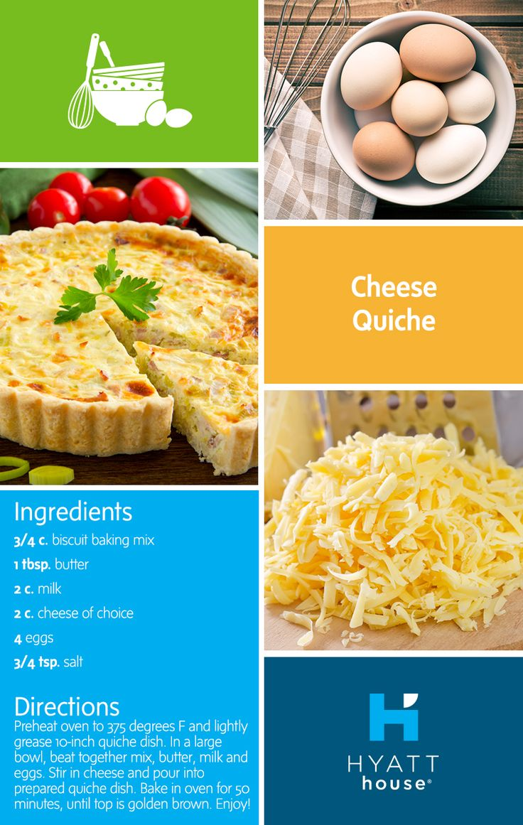 This easy cheesey quiche is super versatile - great for a brunch buffet or a dinner entrée, served hot or cold. Use as a base and add your favorite ingredients to the filling!