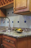 A granite backsplash can prove challenging to remove.
