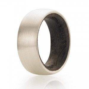 Everett Brookes » Men's white gold and rosewood wedding ring