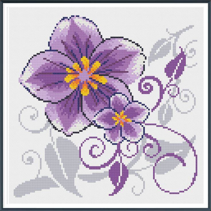 Wistaria, Counted Cross stitch, Pattern PDF, Cross Stitch Chart , Cute Cross Stitch, Cross stitch pattern by AprilBeeShop on Etsy