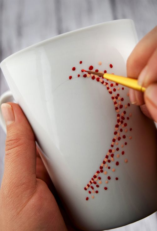 Simple Sweetheart Painted Coffee Mugs