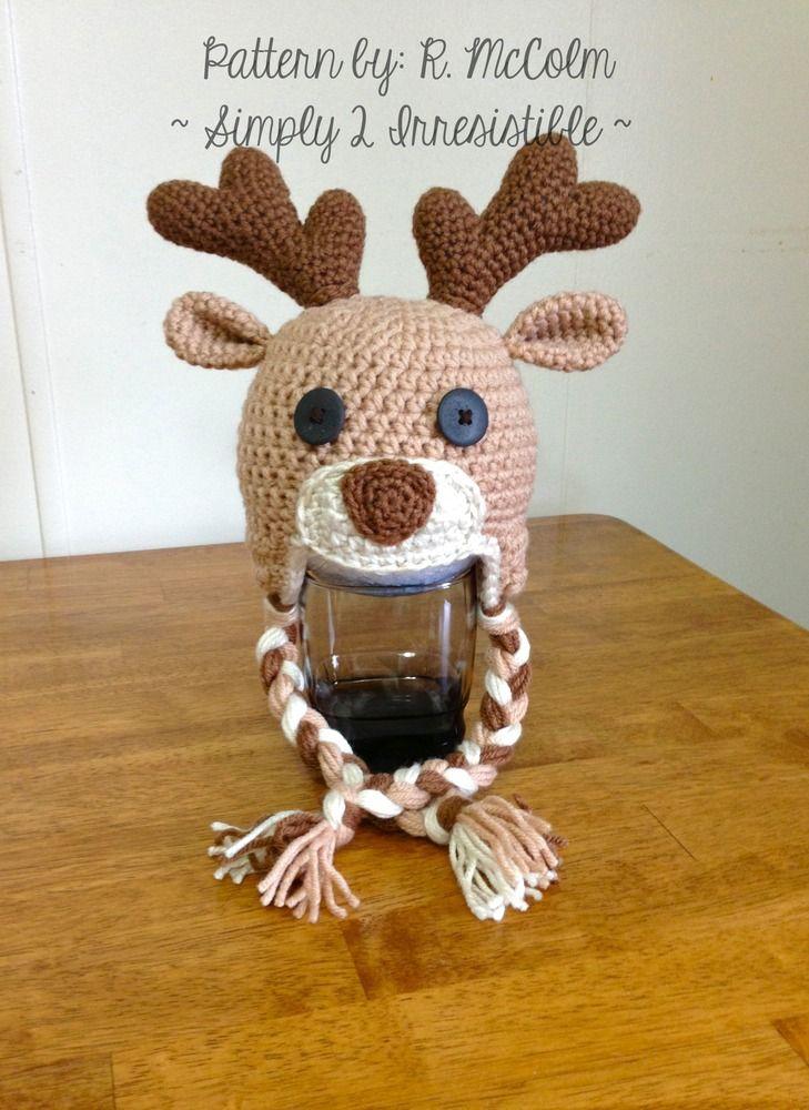 Deer Elk Crochet Hat Pattern Crochet Hat Patterns