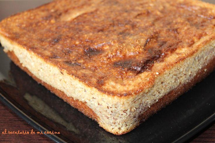 pastel de manzana con crujiente de almendra