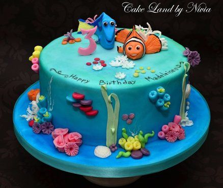 Best Finding Nemo Cakes Images On Pinterest Biscuits - Finding nemo birthday cake