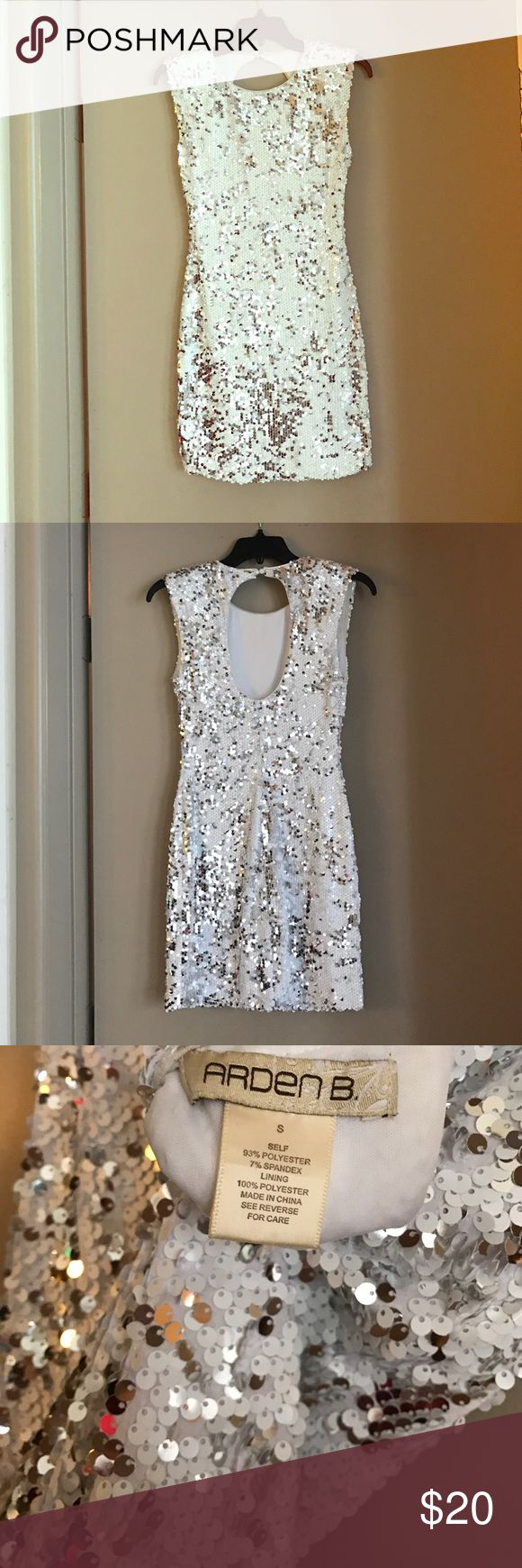 Sequined Arden B NYE Dress Perfect Dress for NYE or a night out. Stretches for a flattering, form-hugging look. Features a keyhole back. Worn once. Arden B Dresses Mini