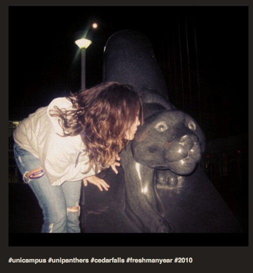 Kiss me; I'm a Panther!