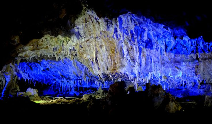 Hida Great Limestone Cave / Gifu. This cave was discovered in 1965. People can go in under 800 yards but there is another undiscovered area at 1,000 yards. It is said that 250 million years ago this was the bottom of the sea.