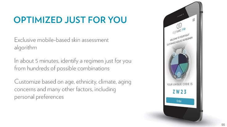 AgeLOC ME powered by a mobile app. #agelocme #nuclub #ageloc #nuskin