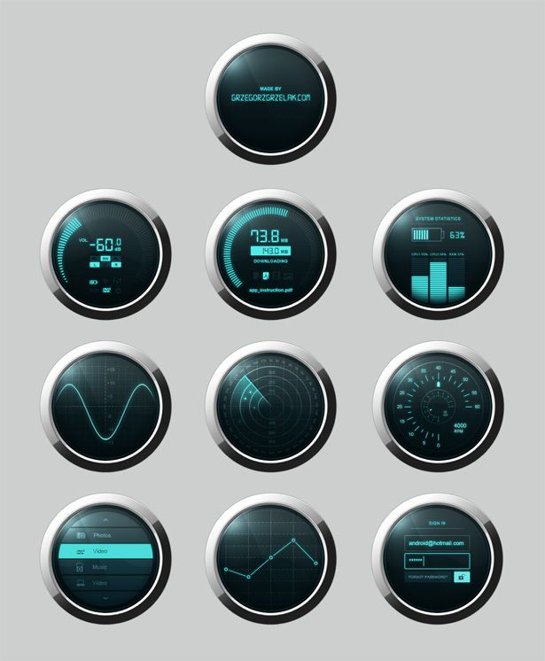 Free Download: Dashboard Elements PSD